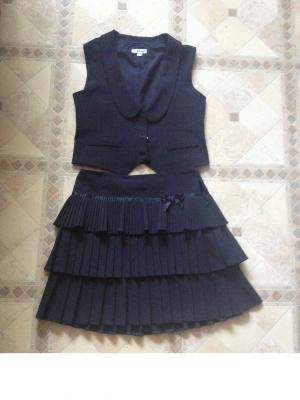 Жилетка и юбка для школы (152)