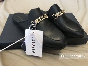 Черные кожаные мюли Tommy Hilfiger 37