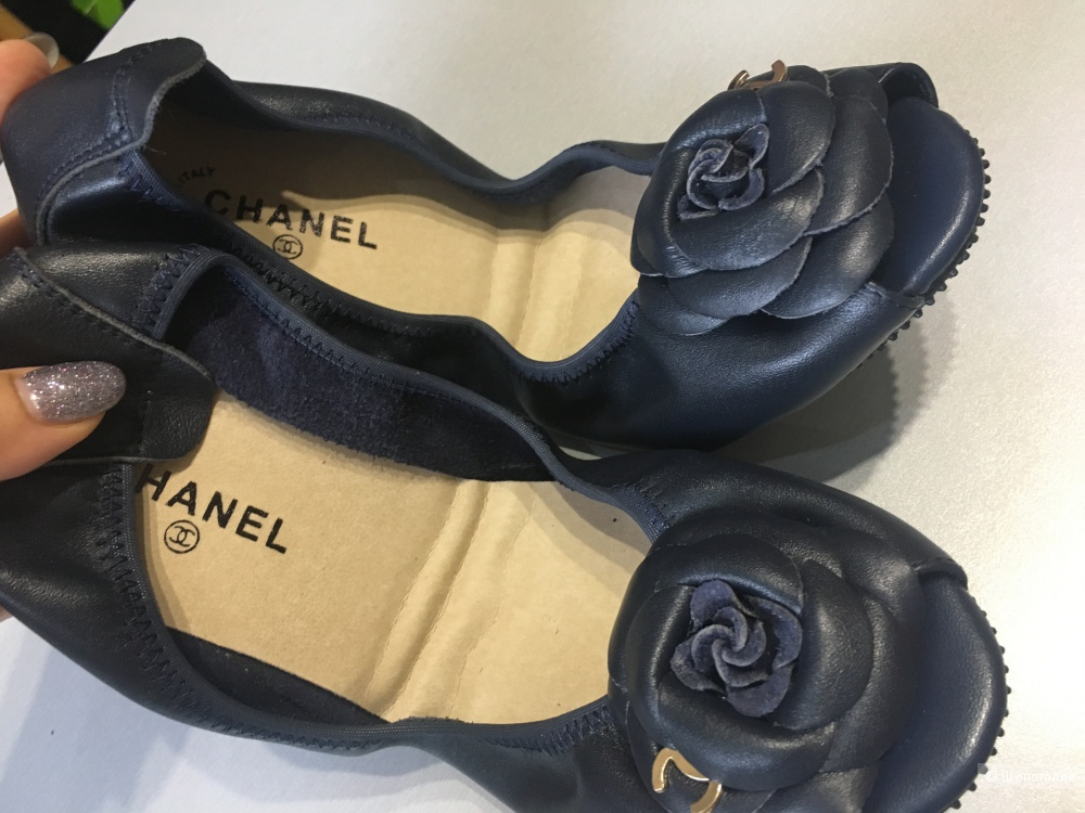 Балетки Chanel, размер 39. По стельке 24,5 см