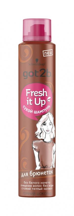 Schwarzkopf Got2b Fresh it Up Сухой шампунь Для брюнеток