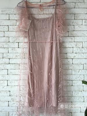 Платье Пудровое, one size