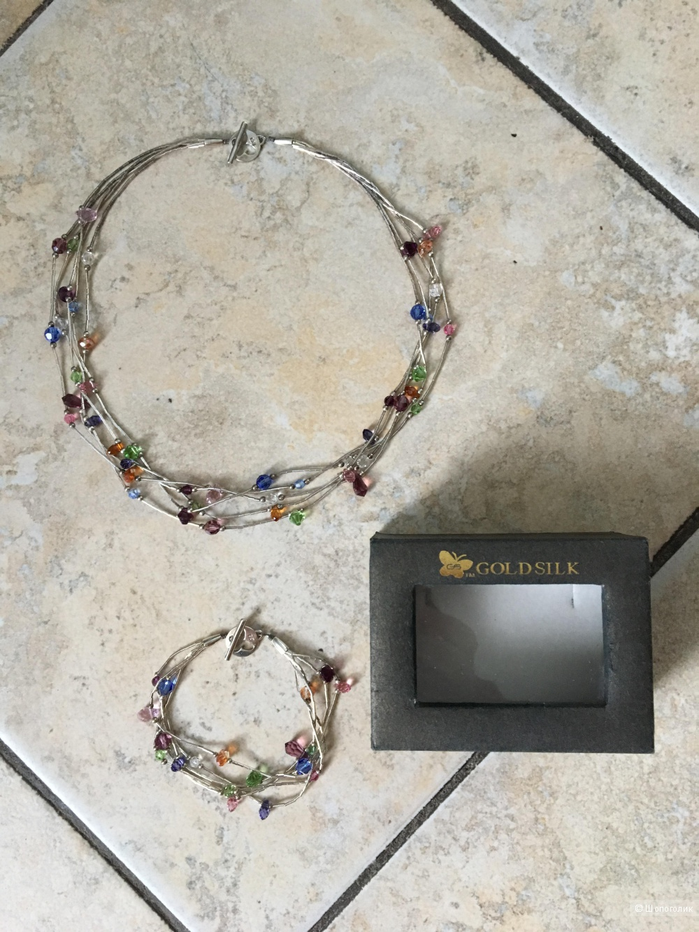 Комплект колье и браслет Goldsilk с кристаллами Swarovski