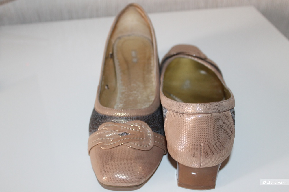 Кожаные туфли Shielie 39 р.