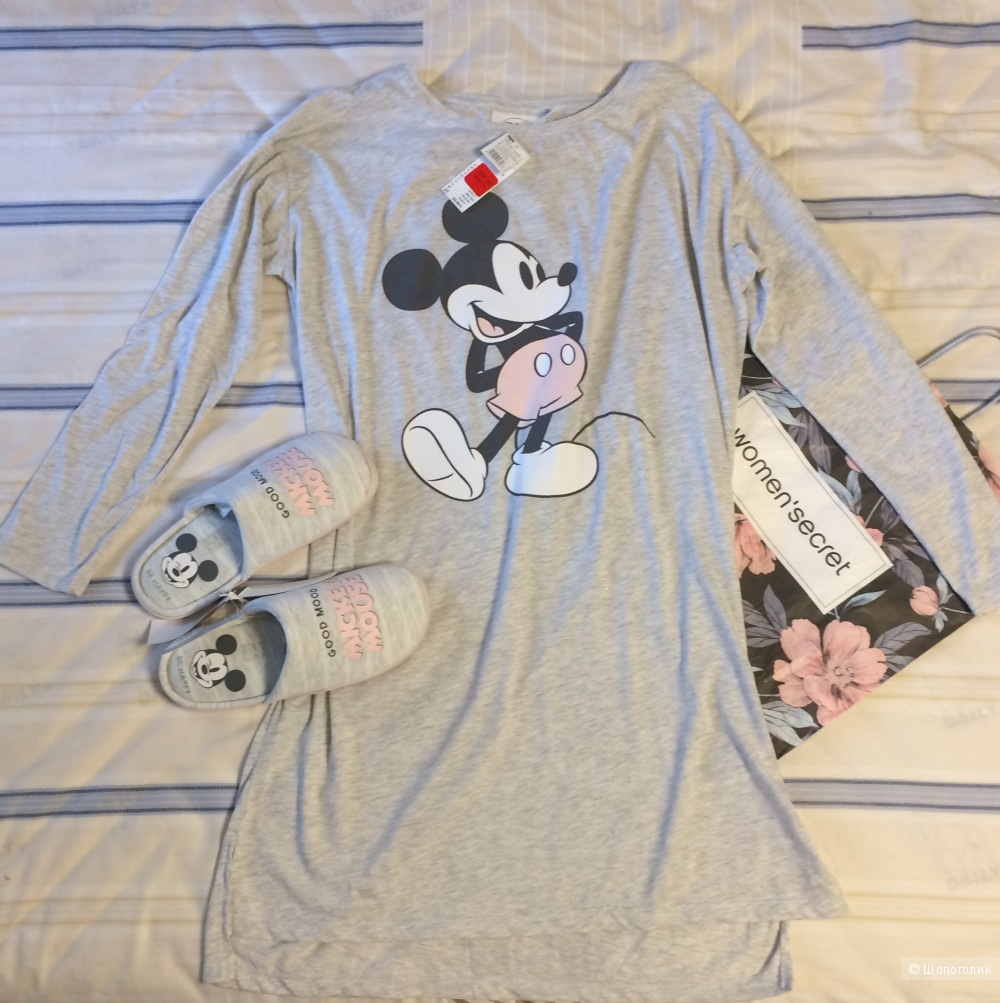 Сет ночная сорочка и тапочки WOMEN'SECRET размер XXL/L