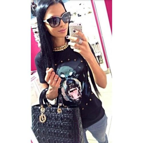 Женская футболка Givenchy Dog, размер S, на рос. 42-44