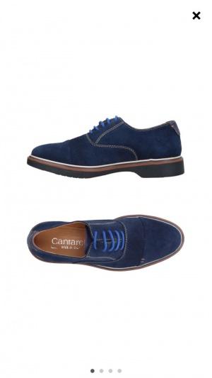 Туфли замшевые мужские, 43 размер,  Cantarelli, Италия
