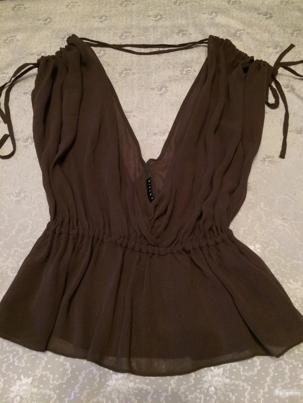 Сет топ-майка Massimo Rebecchi,блузка Sisley,юбка H&M,размер 42-44