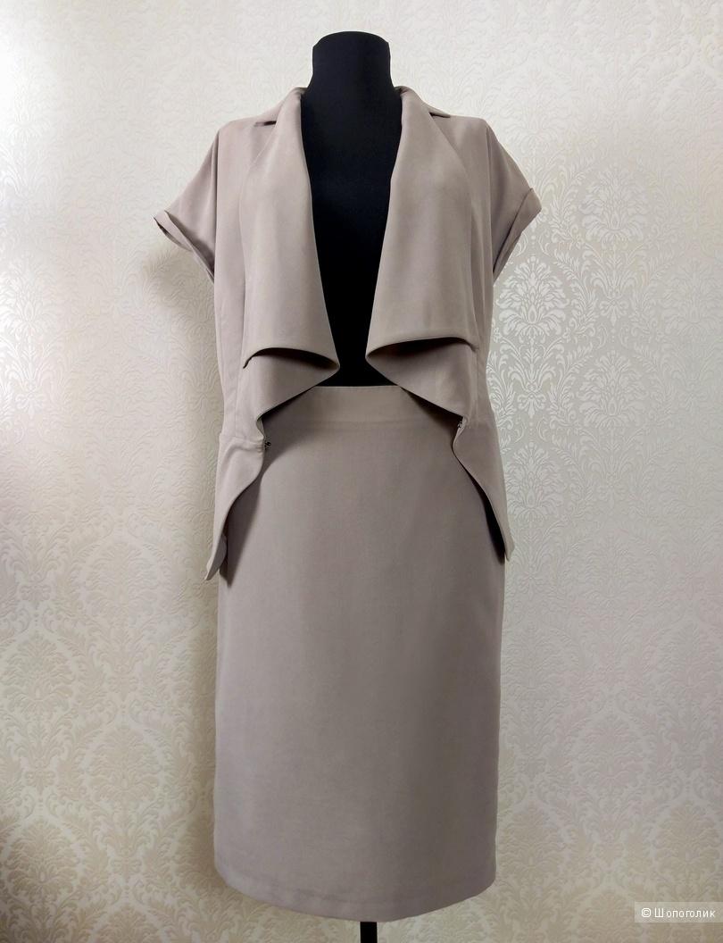 Костюм: жакет и юбка женские, Glance, s-m размер.