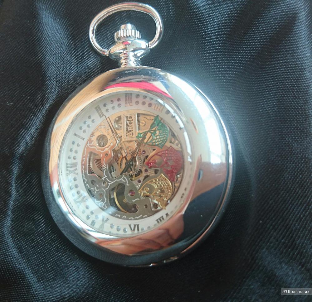 Часы карманные женские посеребренные
