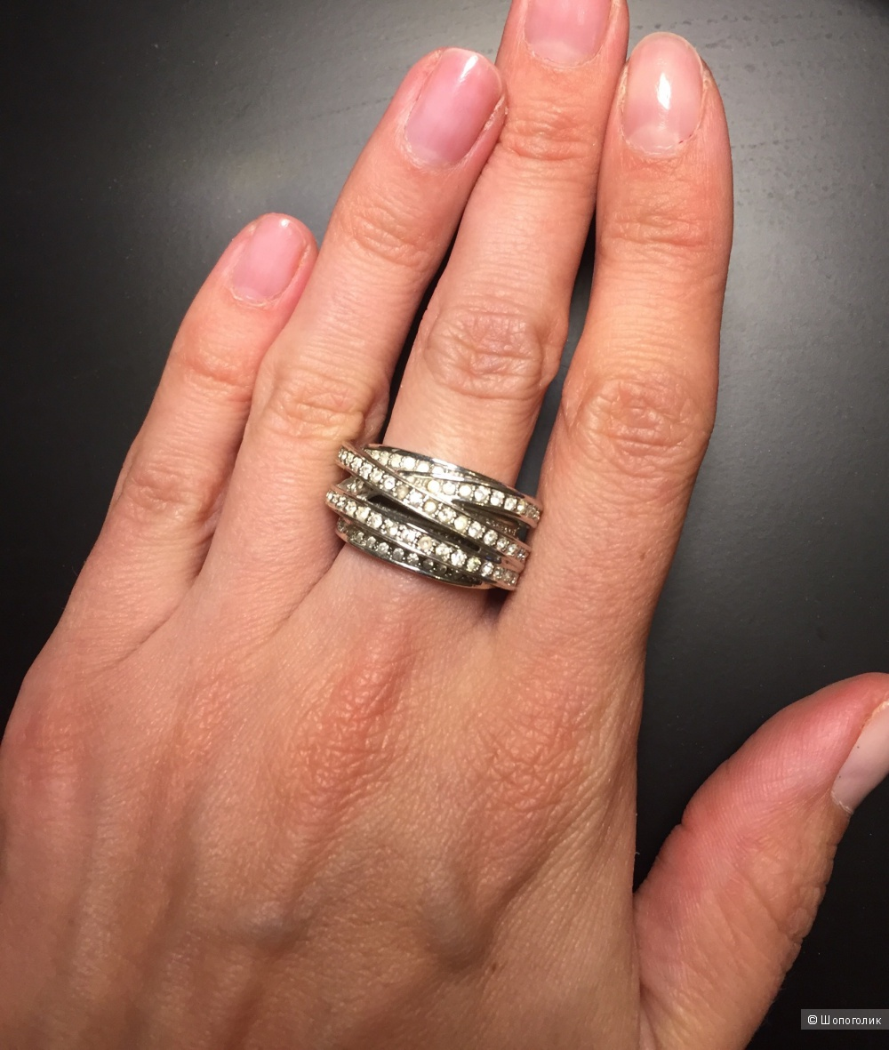 Кольцо элитной французской бижутерии в стиле De Grisogono