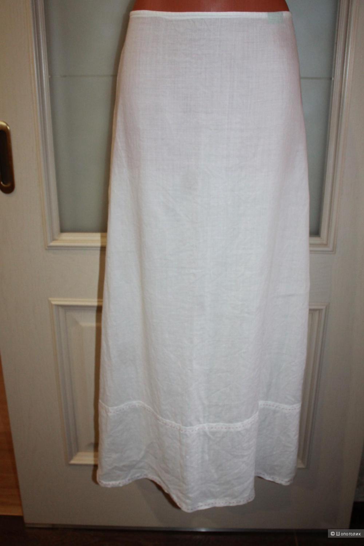 Льняная юбка Benetton, размер 46-48