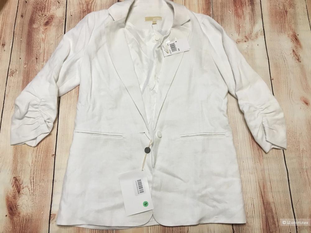 Льняной пиджак MICHAEL MICHAEL KORS, размер 8 US (48 RU). На рос. 46-48