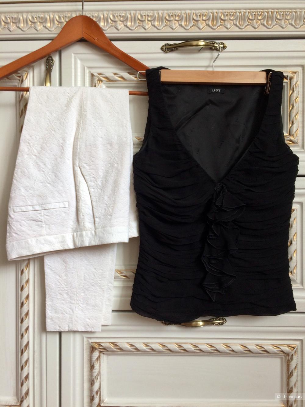 Сет из двух вещей - Блузка List,брюки Zara basic,S-XS
