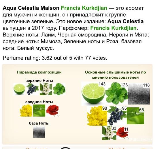 Maison Francis Kurkdjian Paris Aqua Celestia 11ml edt