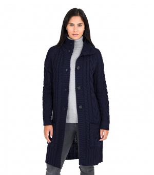 Шерстяное вязаное пальто-кардиган Woolovers размер M