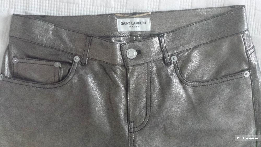 Кожаные брюки SAINT LAURENT, 38FR, 44рус