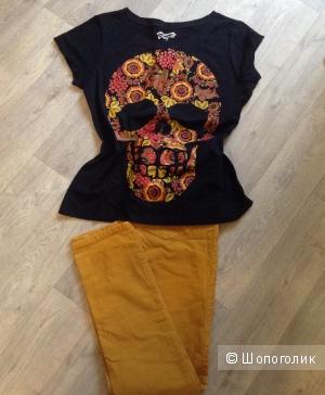 Комплект: брюки no name, размер 46, футболка Gloria jeans, размер L