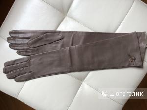 Длинные кожаные перчатки RinDi Италия 8