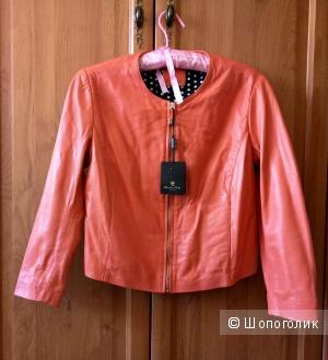 Куртка кожаная Massimo Dutti  размер 42-44.