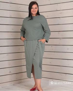 Костюм юбка +блуза Poland, xxl