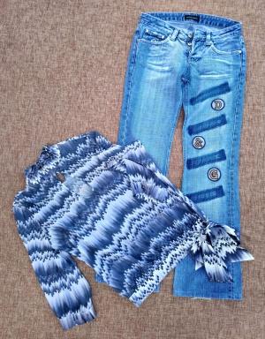 Сет: блуза и джинсы Dolce & Gabbana