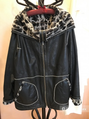 Куртка кожаная, двухсторонняя. Размер 54-56.