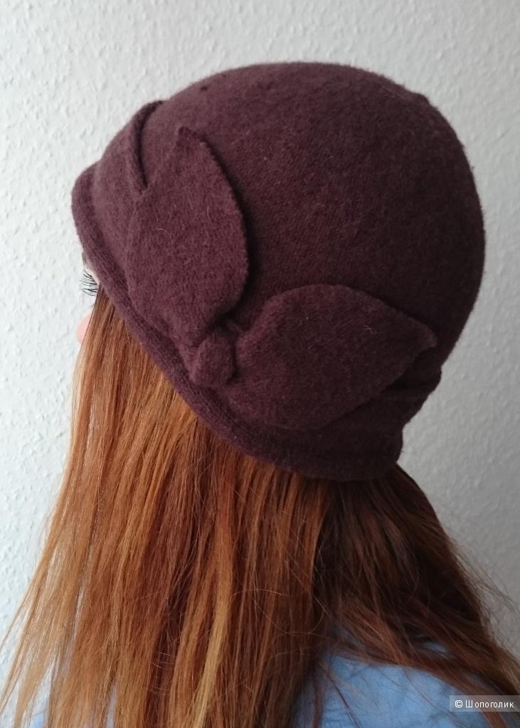 Шапка-шляпка Sollo р-р 56 и перчатки Mudo, р-р 6,5-7