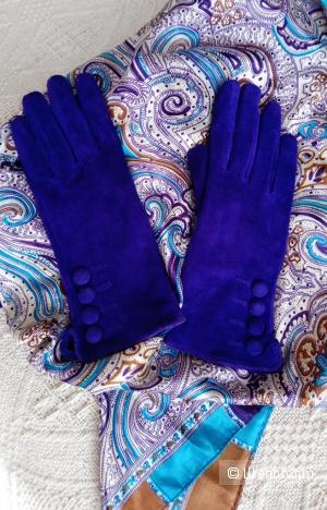 Перчатки H&M, р-р 6,5 и платок 90х90см