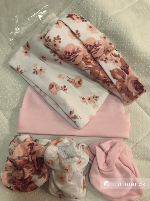 Комплект шапочки+варежки Laura Ashley 0-3 мес.