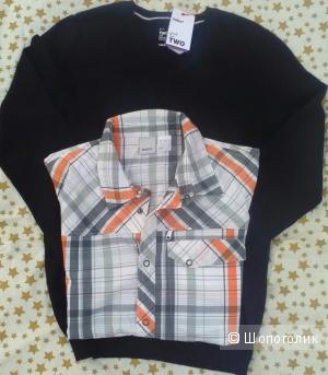 Свитер и рубашка Celio Reebok 44 размер