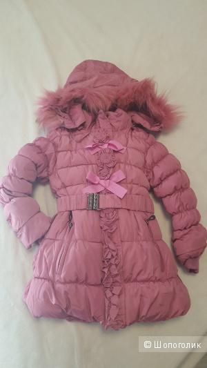 Зимнее пальто на 6 лет, рост 116
