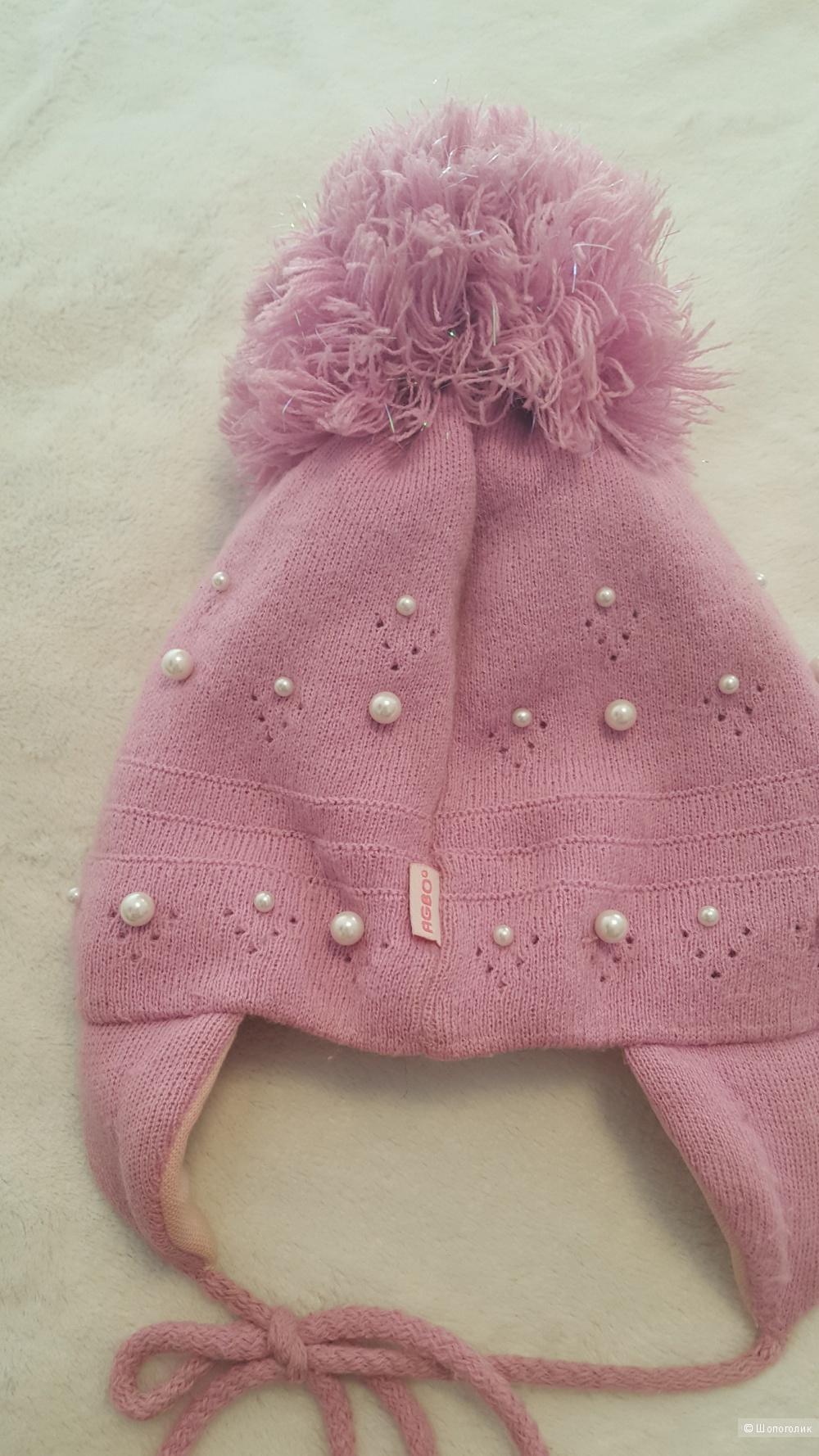 Теплая шапочка AGBO, 40 р-р ( на девочку 5-6 лет)