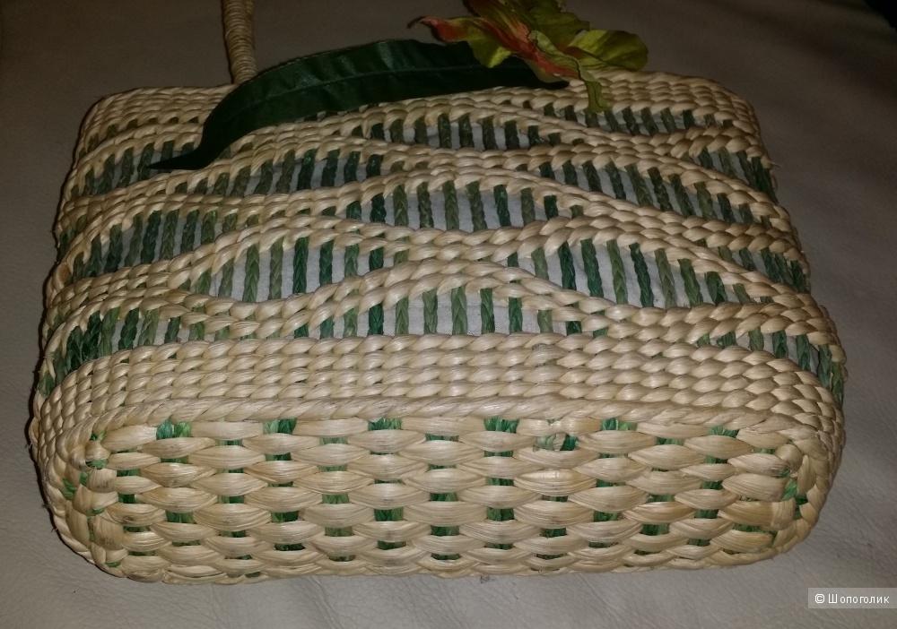 Сумка плетеная , ручная работа , 23*36 см