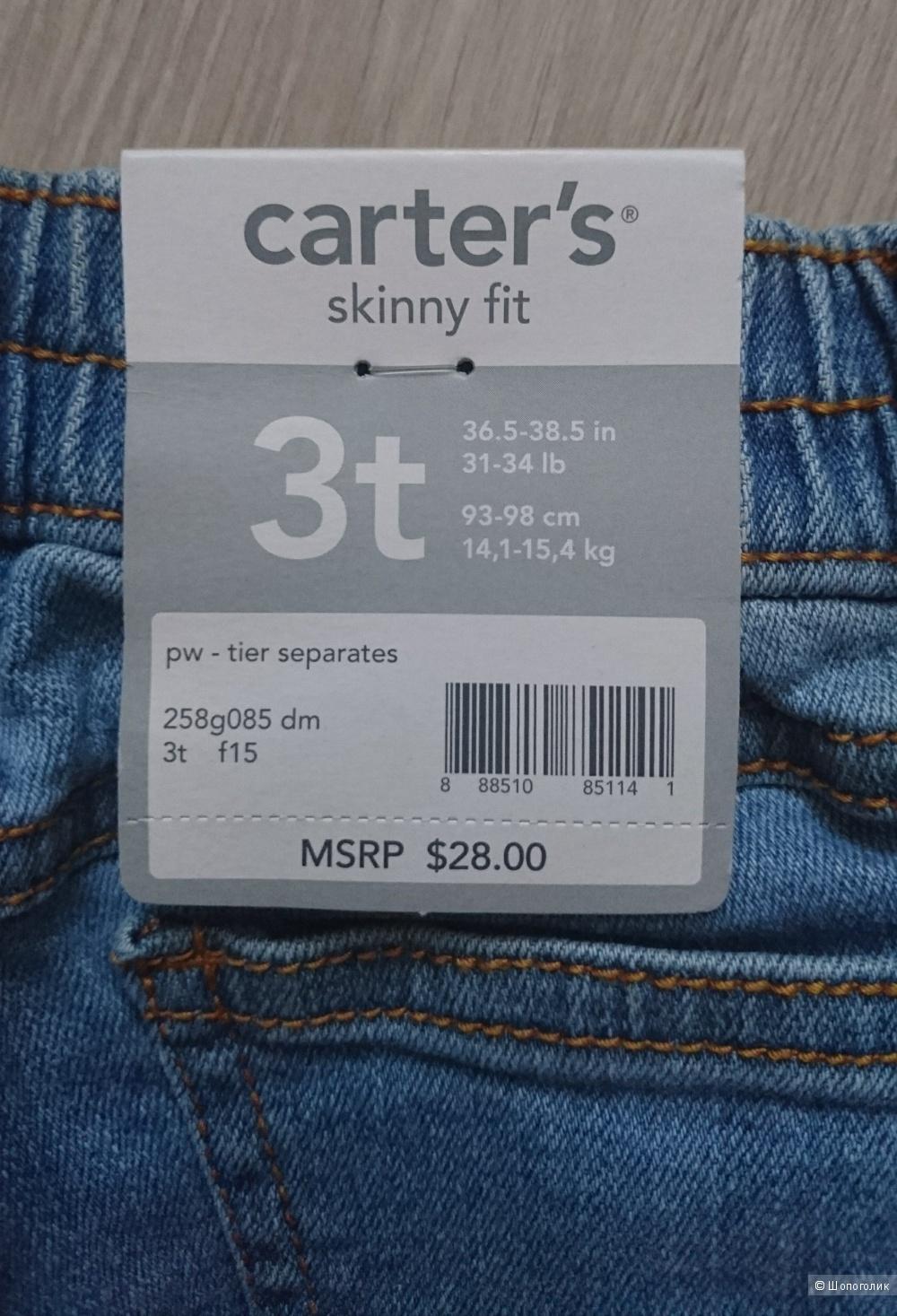 Детские джинсы Carter's , размер 3t
