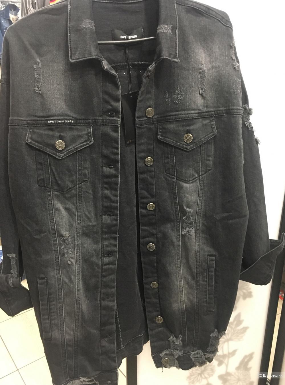 Джинсовая удлиненая Куртка SPEEDWAY, размер s-m