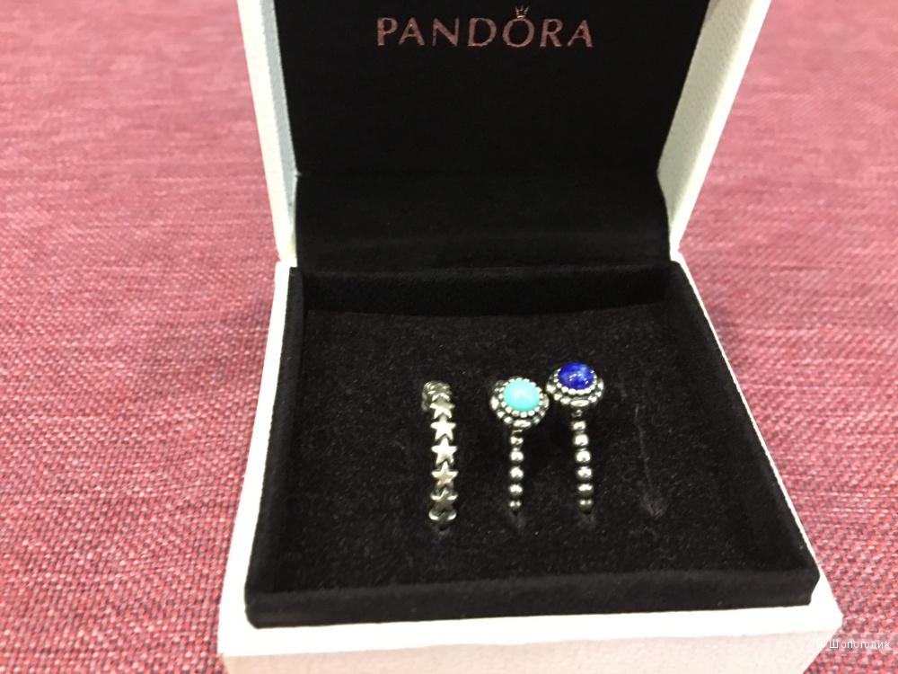 Колечки Pandora, размер 17