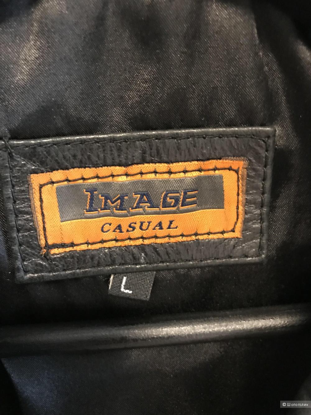 Кожаная жилетка Image Casual, размер S-L