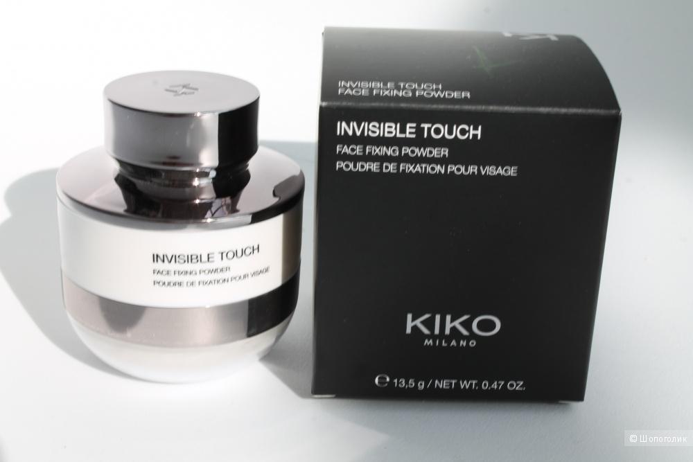 Фиксирующая и матирующая пудра для лица INVISIBLE TOUCH KIKO