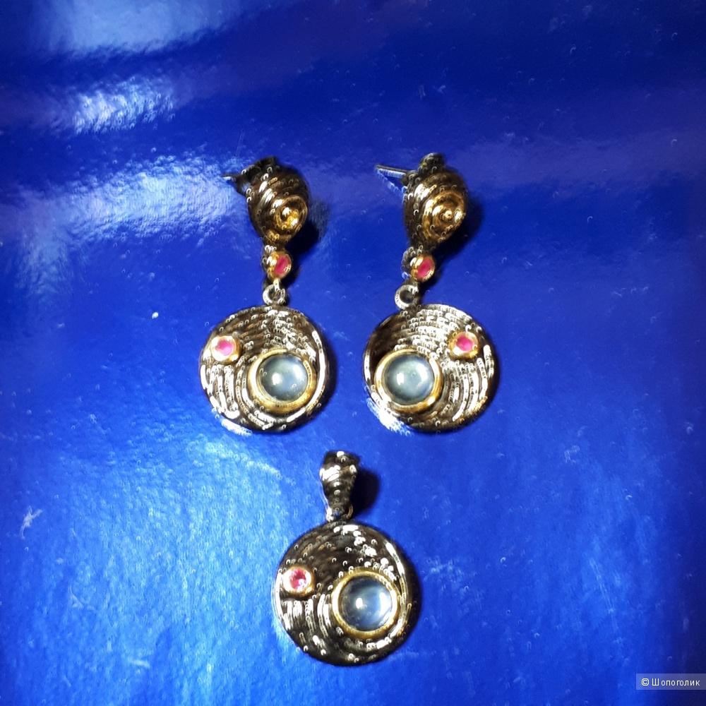 Серьги  и подвеска  с цирконами от Beauty Accessories