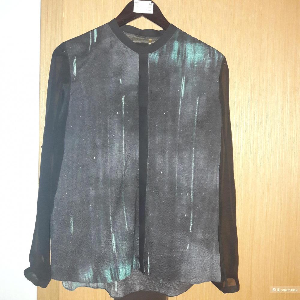 Шелковая блузка Elie  Tahari размер m (48)