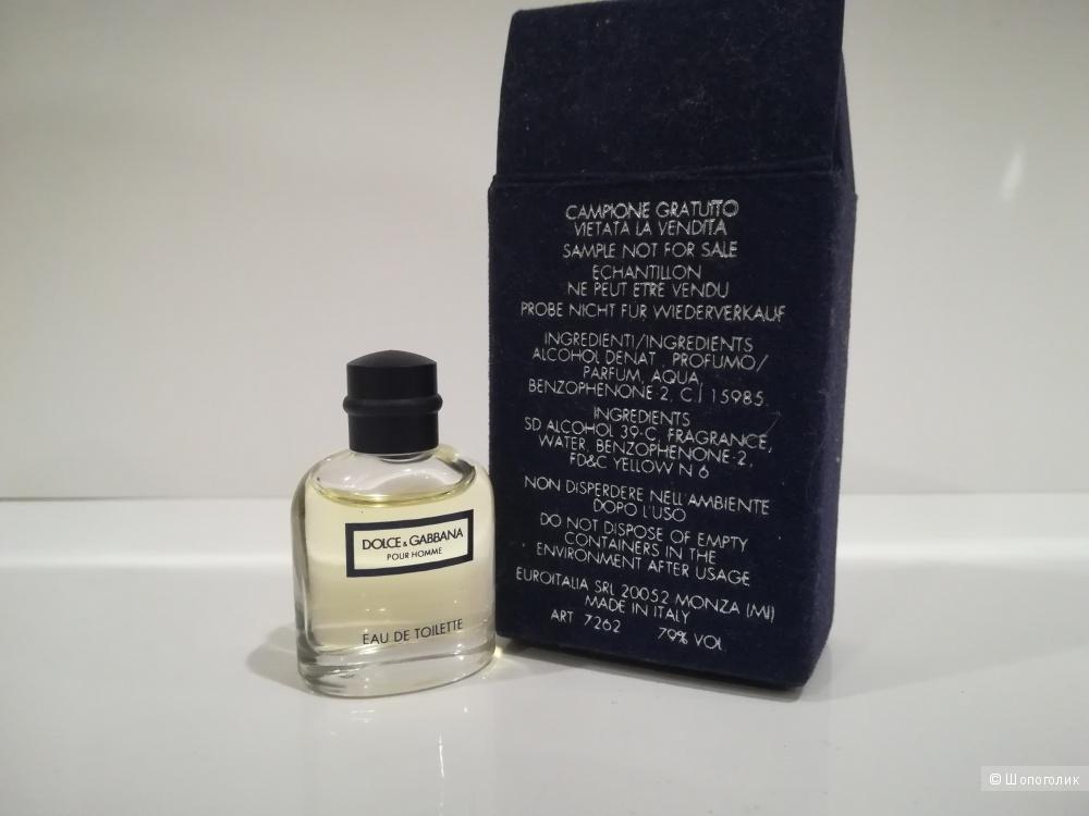 Миниатюра 4,5  мл - Dolce&Gabbana pour Homme (1994) EDT