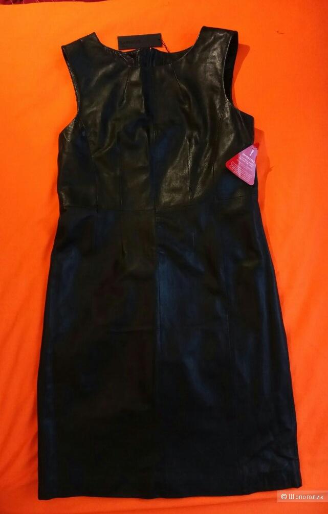 Платье кожаное,Barneys,L,M