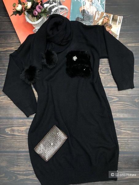 Комплект платье+шарф, Lulu, 42-48