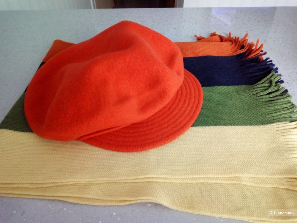 Сет кепка-берет + шарф