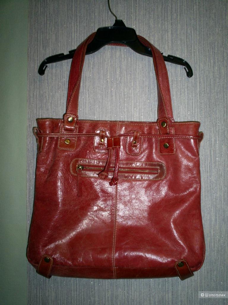 Сумка Genuine leather 39-33-10 см.