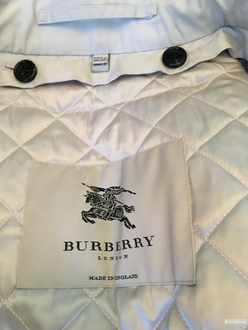 Утепленный тренч Burberry London, размер UK10