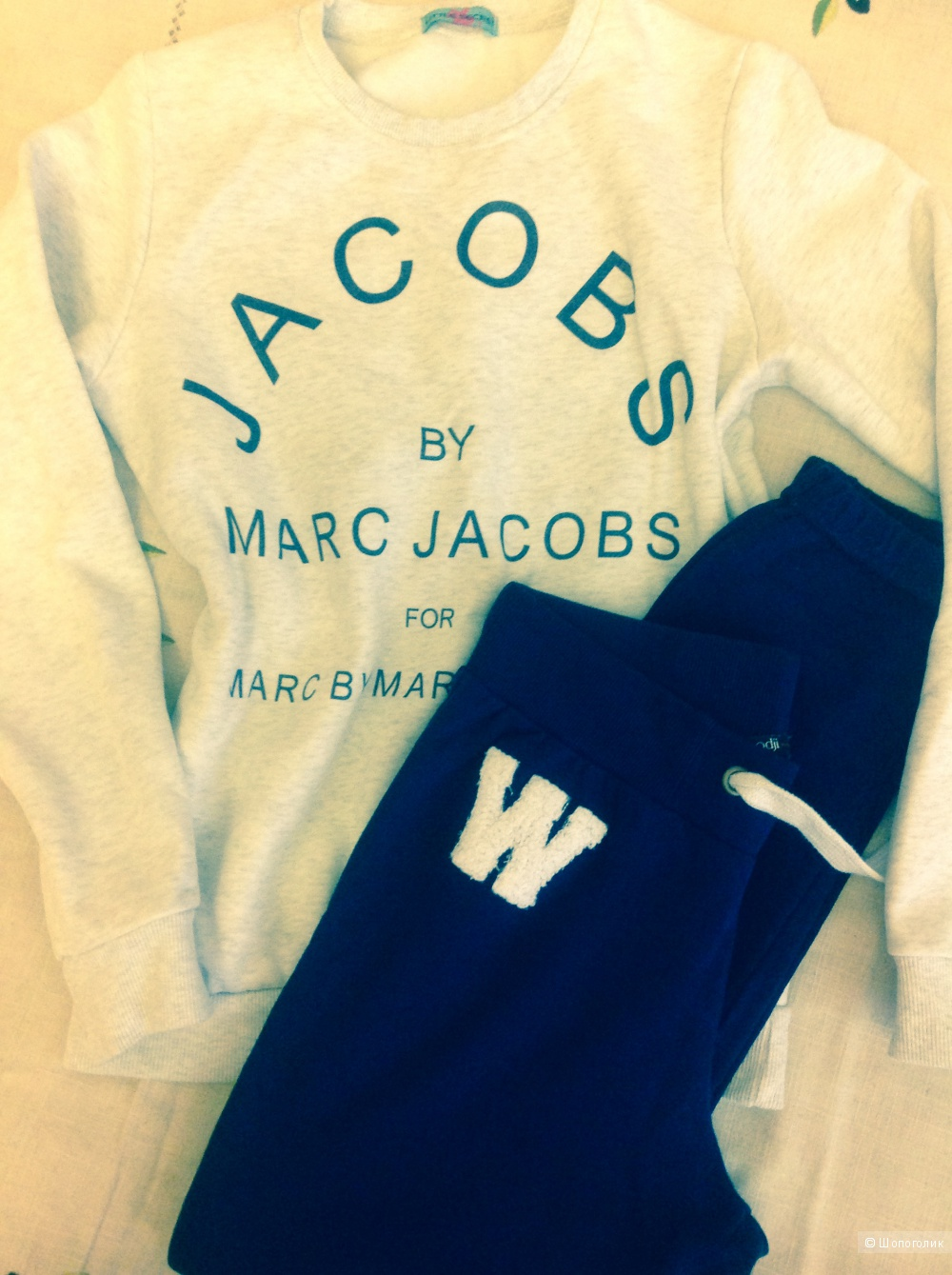 Сет, свитшот/Marc Jacobs (реплика)+джоггеры/Oodji, разм. 42 (рос.)