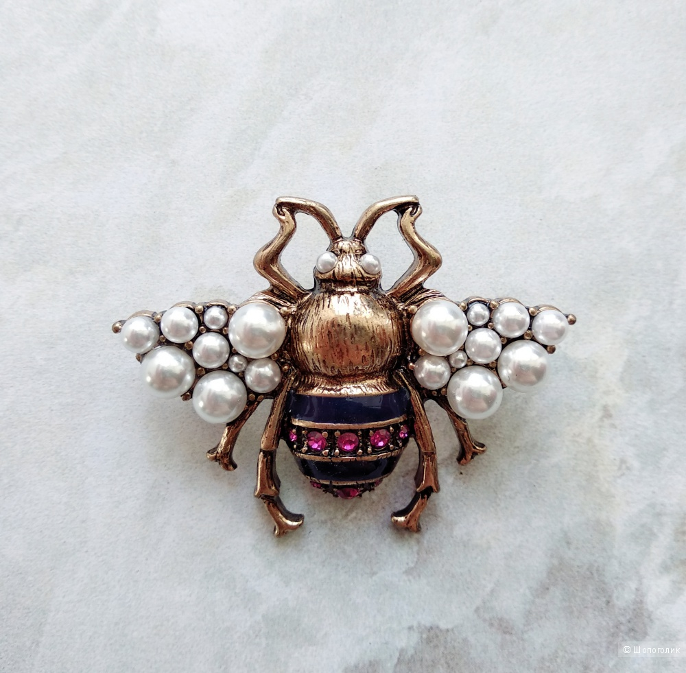 "Брошь ""Пчела"", Gucci, one size"