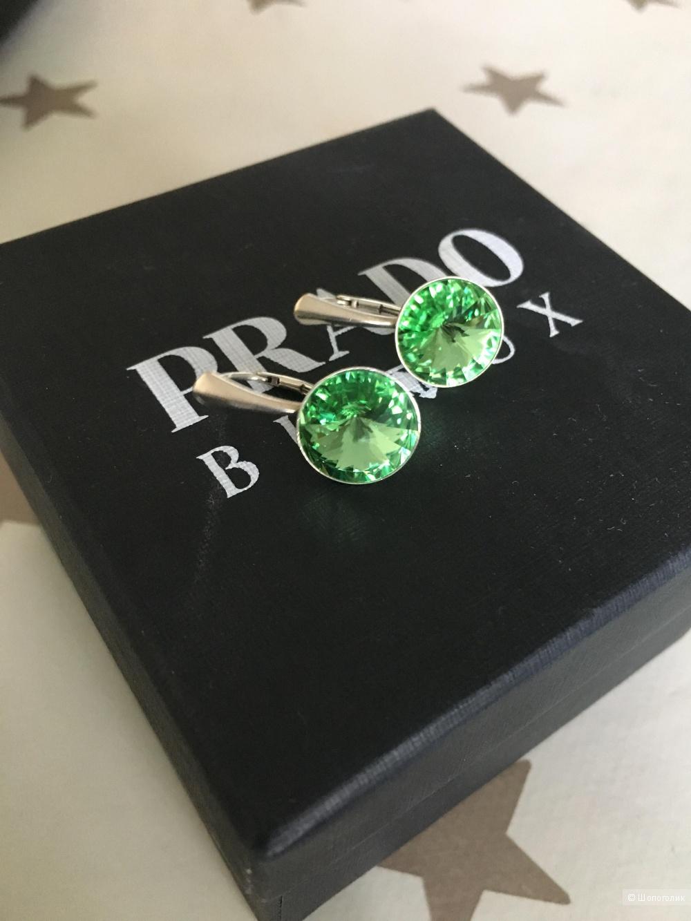 Серьги из серебра Prado-bijoux с кристаллами Сваровски
