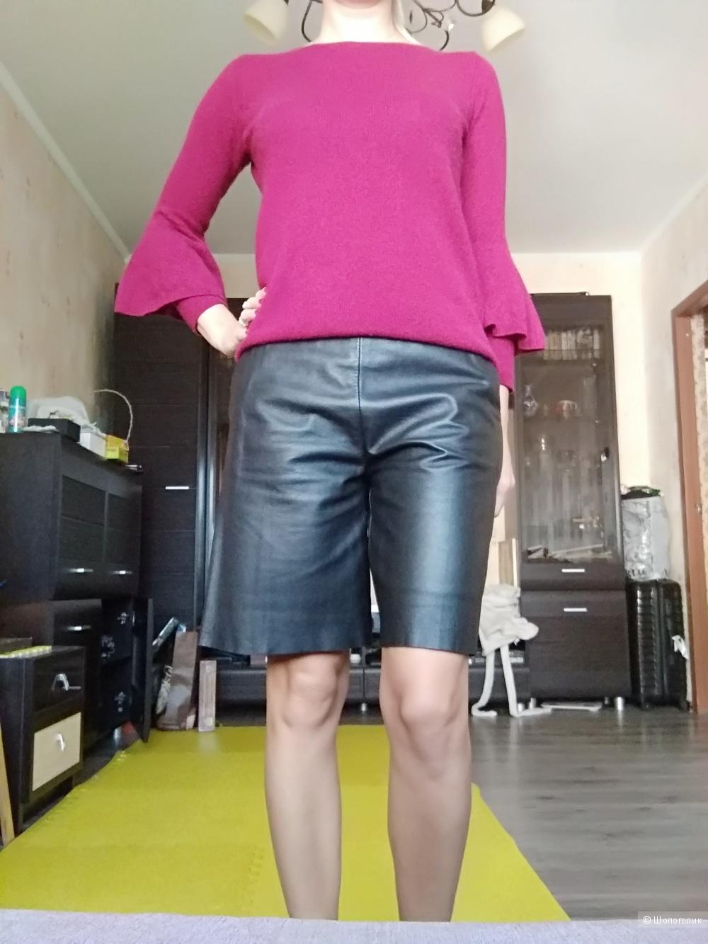 Кожаные шорты TWIN-SET SIMONA BARBIERI XS на S